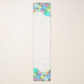Spring bubble circle design scarf