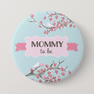 Spring Buds Baby Shower Mom's Button