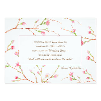 Spring Buds Wedding Request Card