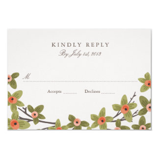 Spring Buds Wedding RSVP Card