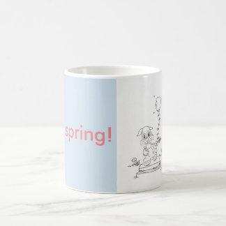Spring Bunny Cartoon Mug