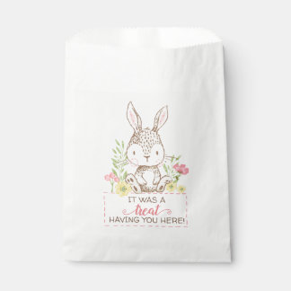 Spring Bunny Favor Bags with Message