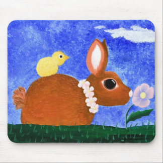 Spring Bunny Mouse Pads