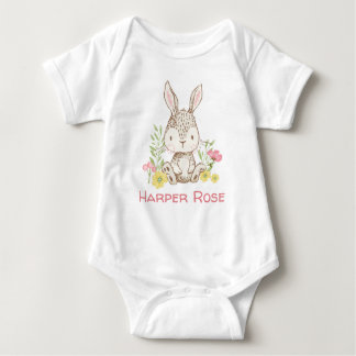 Spring Bunny - Personalised Baby Bodysuit
