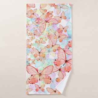 Spring Butterflies Bath Towel