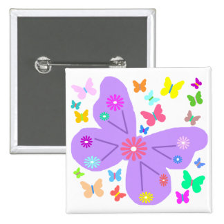 Spring Butterflies button
