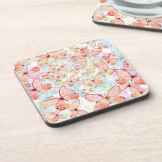 Spring Butterflies Coasters (set of 6)