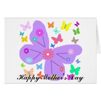 Spring Butterflies, Happy Mother's Day card