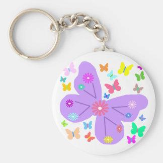Spring Butterflies key chain