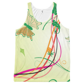 spring butterfly All-Over print singlet