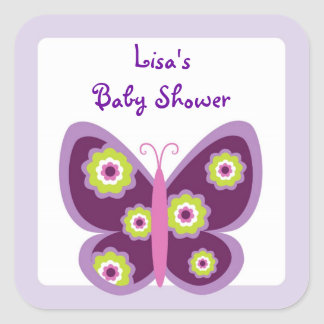 Spring Butterfly Flower Envelope Seals Stickers