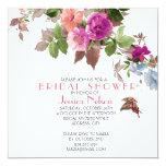 Spring Butterfly Garden Flowers Bridal Shower 13 Cm X 13 Cm Square Invitation Card