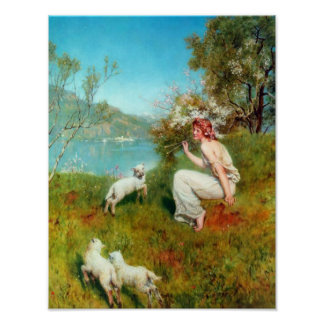 Spring by John Collier (1850-1934) Poster