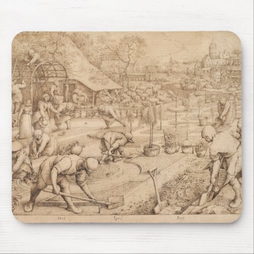 Spring by Pieter Bruegel the Elder Mousepad