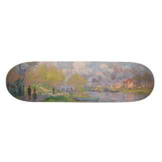 Spring by the Seine by Claude Monet Skate Board Decks