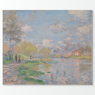 Spring by the Seine by Claude Monet Wrapping Paper