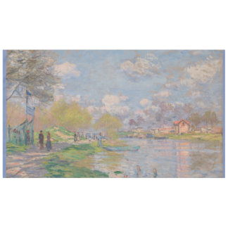 Spring by the Seine Claude Monet Tablecloth