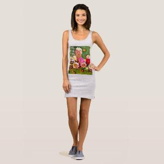 Spring Cactus Bulbs Women's Jersey Tank Dress