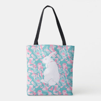 Spring  Camouflage Easter Bunny Tote Bag