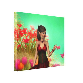 Spring Stretched Canvas Print