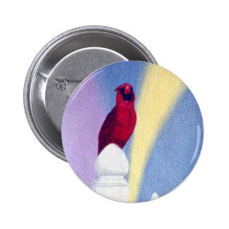 Spring Cardinal Button