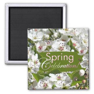 Spring Celebration White Blossoms Magnet