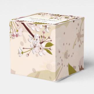 Spring Cherry Blossom Bridal Shower Favor Box Favour Boxes