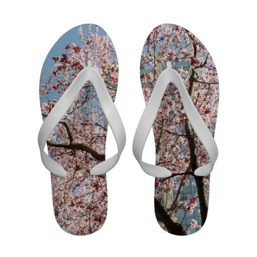 Spring Cherry Blossom Flip Flops