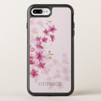 Spring Cherry Blossom Floral Watercolor Style OtterBox Symmetry iPhone 8 Plus/7 Plus Case