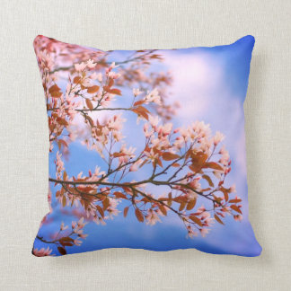 Spring Cherry blossom with blue sky pillow