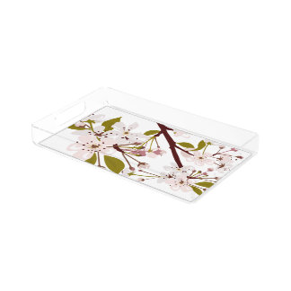 Spring Cherry Blossoms Vanity Tray