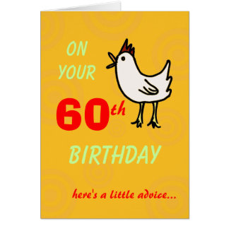 Spring Chicken 60th Birthday Greeting Card