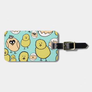 spring chicken luggage tag