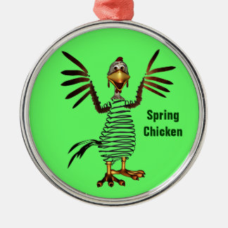 Spring Chicken Metal Ornament