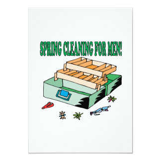 Spring Cleaning For Men 13 Cm X 18 Cm Invitation Card