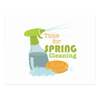 Spring Cleaning Postcard