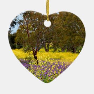 Spring Color Ceramic Heart Decoration