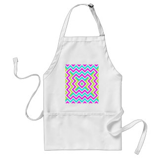 Spring color Chevron pattern Standard Apron