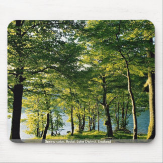 Spring color, Rydal, Lake District, England Mousepad