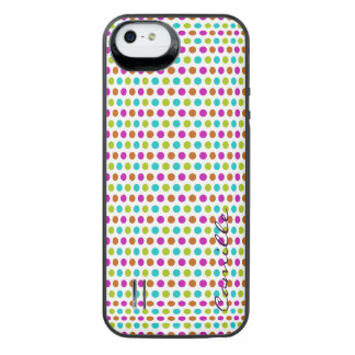 spring colored dots personalized by name iPhone SE/5/5s battery case