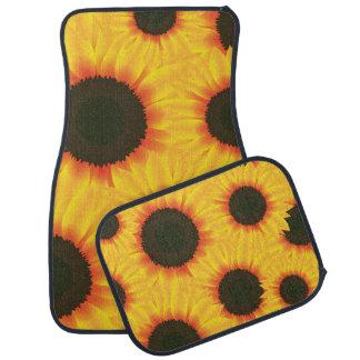 Spring colorful pattern sunfl car mat