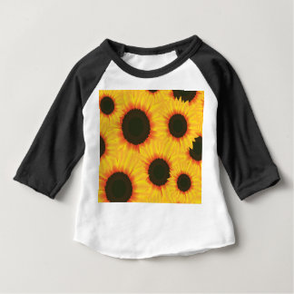 Spring colorful pattern sunflower baby T-Shirt