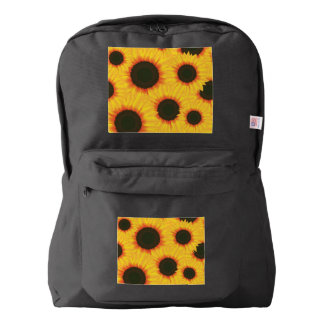 Spring colorful pattern sunflower backpack