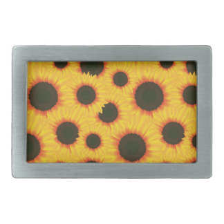 Spring colorful pattern sunflower belt buckle