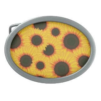 Spring colorful pattern sunflower belt buckles