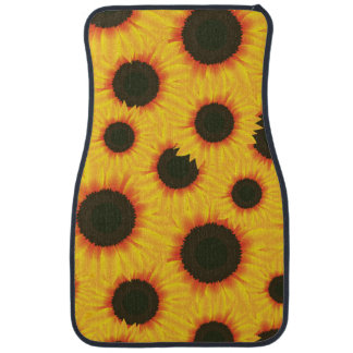 Spring colorful pattern sunflower car mat