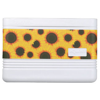 Spring colorful pattern sunflower cooler