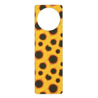 Spring colorful pattern sunflower door hanger