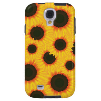 Spring colorful pattern sunflower galaxy s4 case