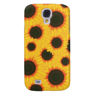 Spring colorful pattern sunflower galaxy s4 cases